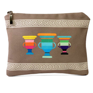 Beige meander amphorae bag