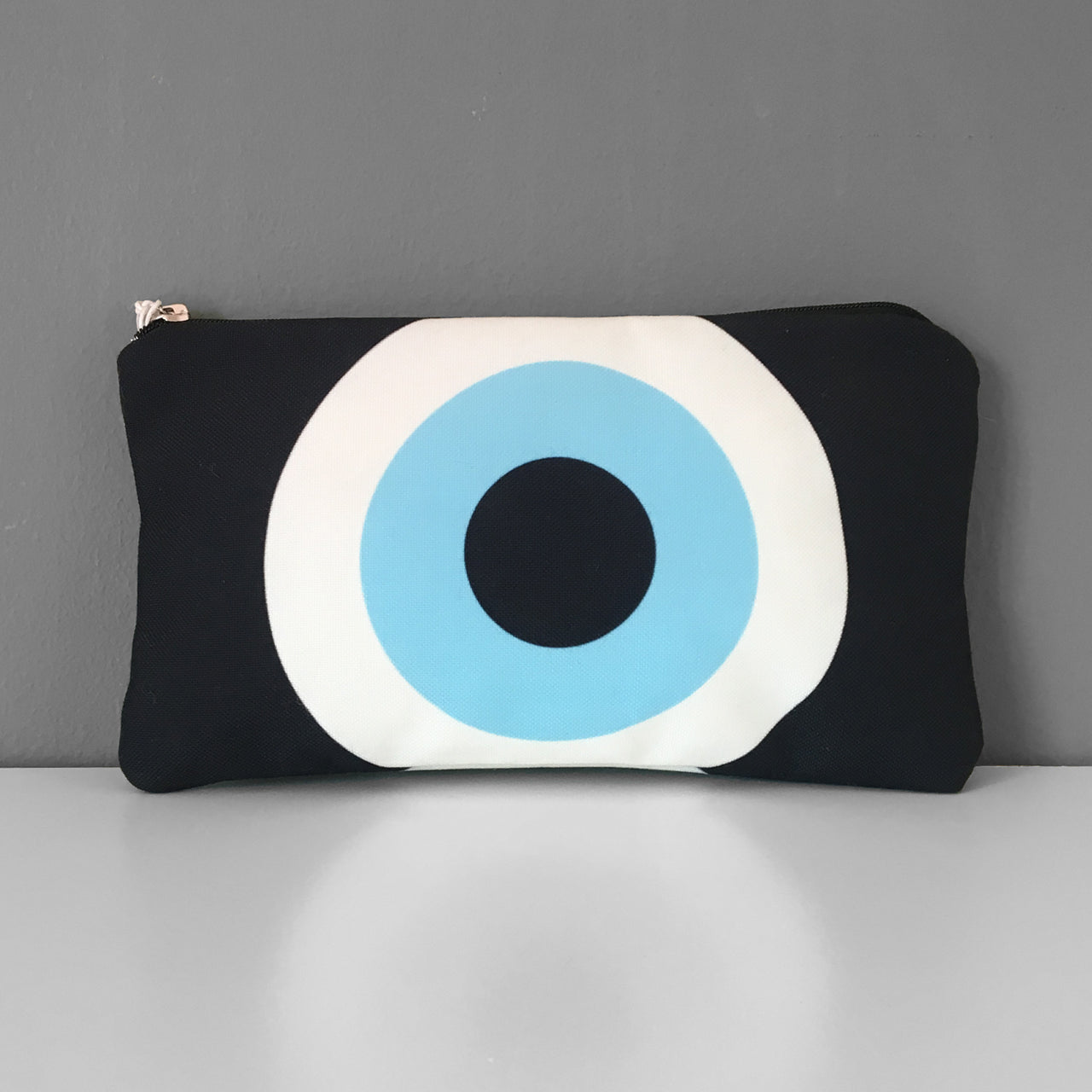 Black Evil Eye cosmetic bag