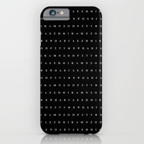 Black Greek Alphabet phone case for iPhone 6/6s