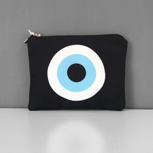 Black Evil Eye coin purse