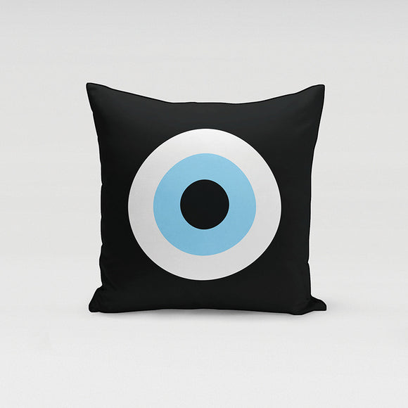 Black Evil Eye Pillow