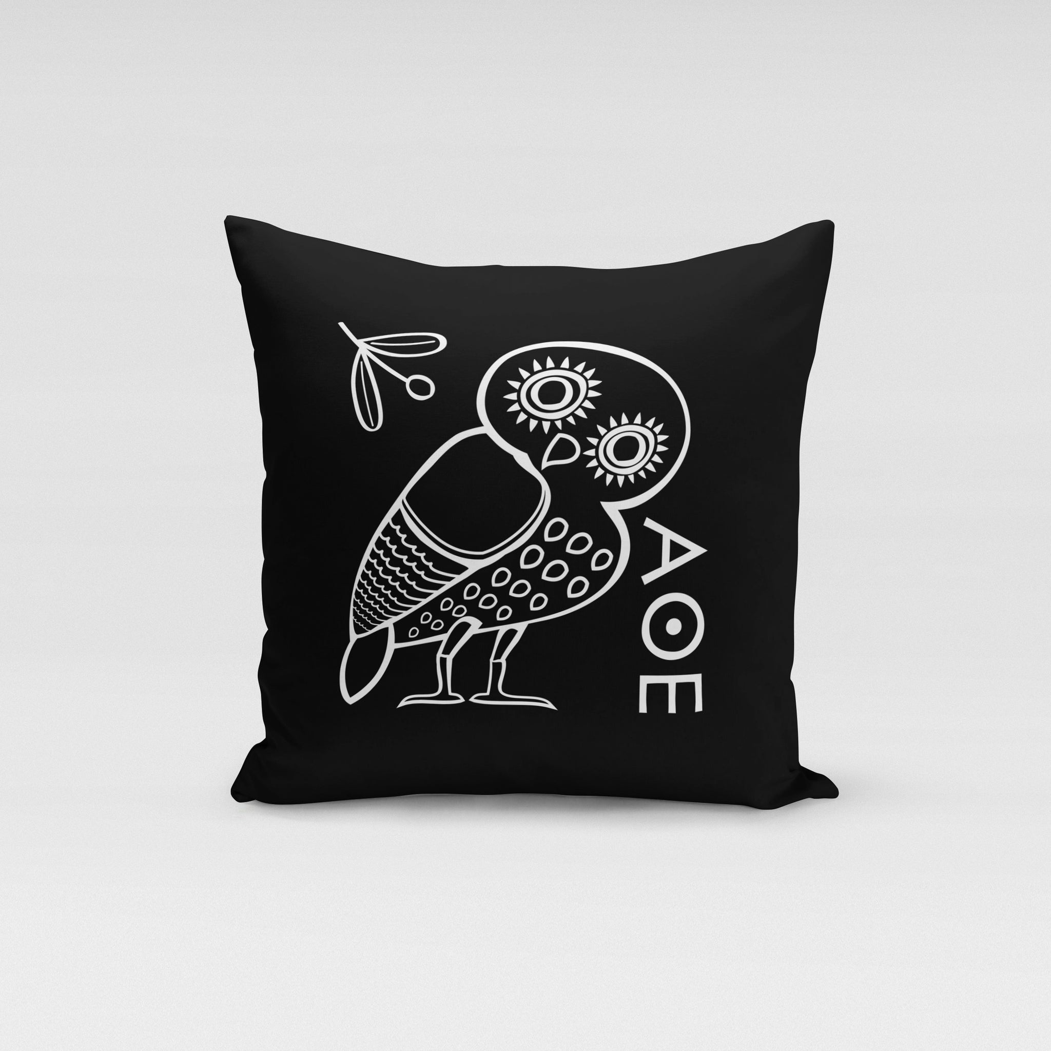 Black Owl Pillow