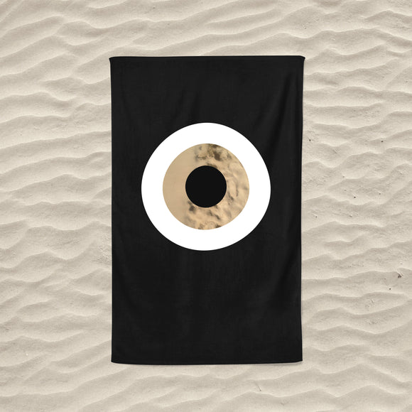 The Black Sand Evil Eye Towel