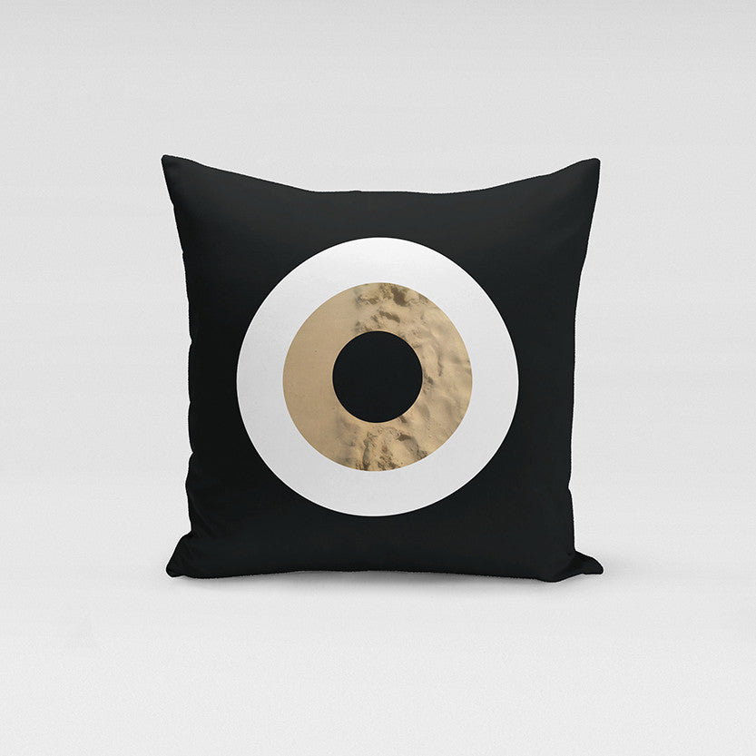 Black Sand Evil Eye Pillow