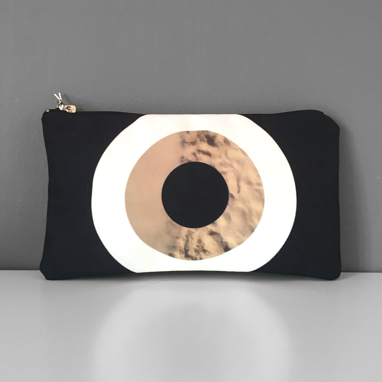 Black Sand Evil Eye cosmetic bag