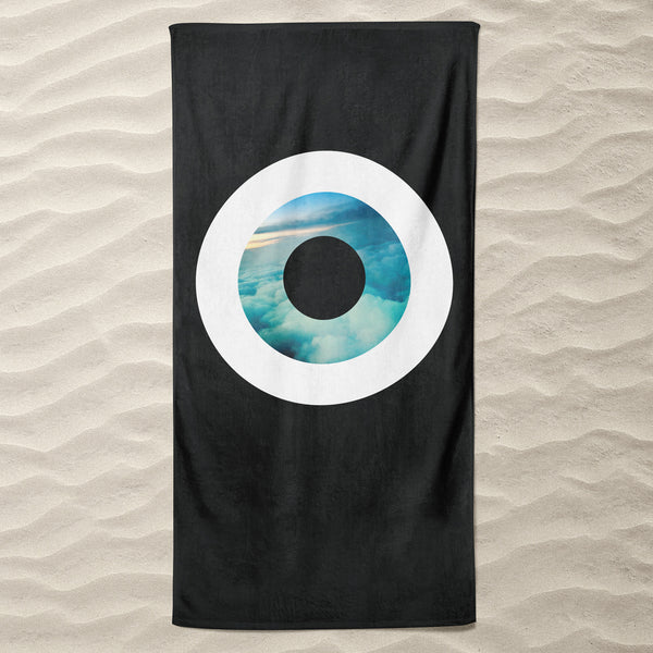 The Black Sky  Beach Towel