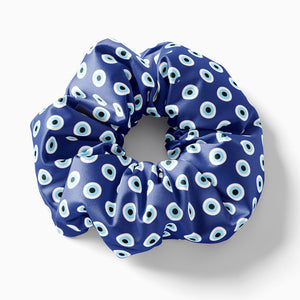 Blue Evil Eye scrunchie