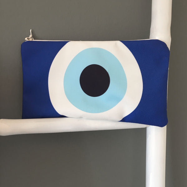 The Blue Evil eye cosmetic bag