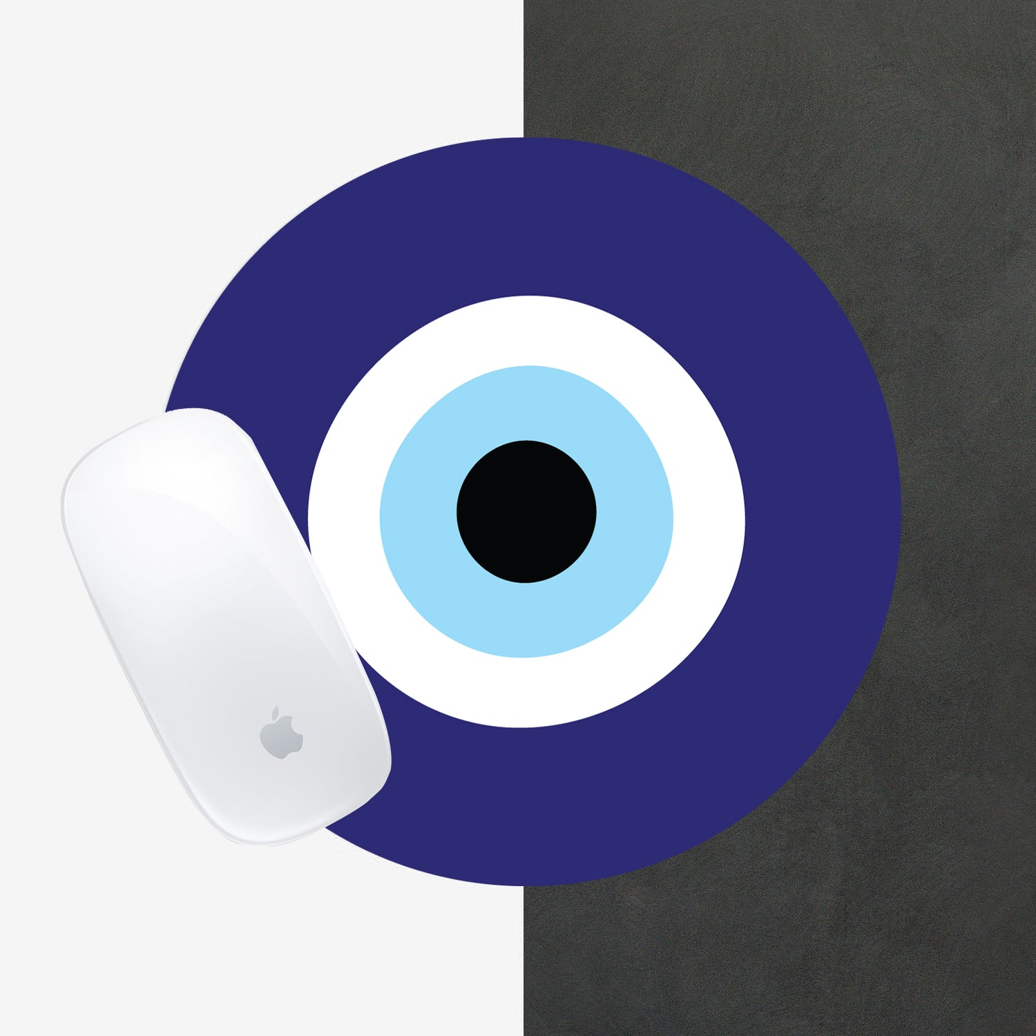 Blue Evil Eye mousepad