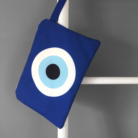Blue Evil Eye Clutch