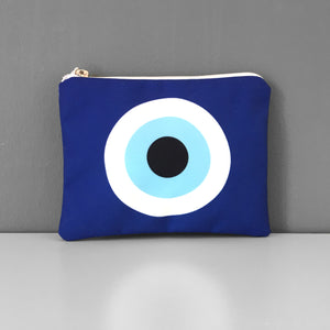 Blue Evil Eye coin purse