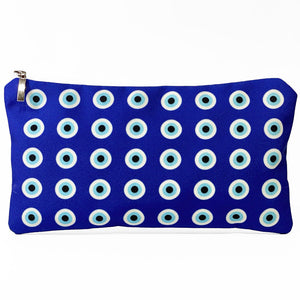 Blue Evil Eye pattern bag