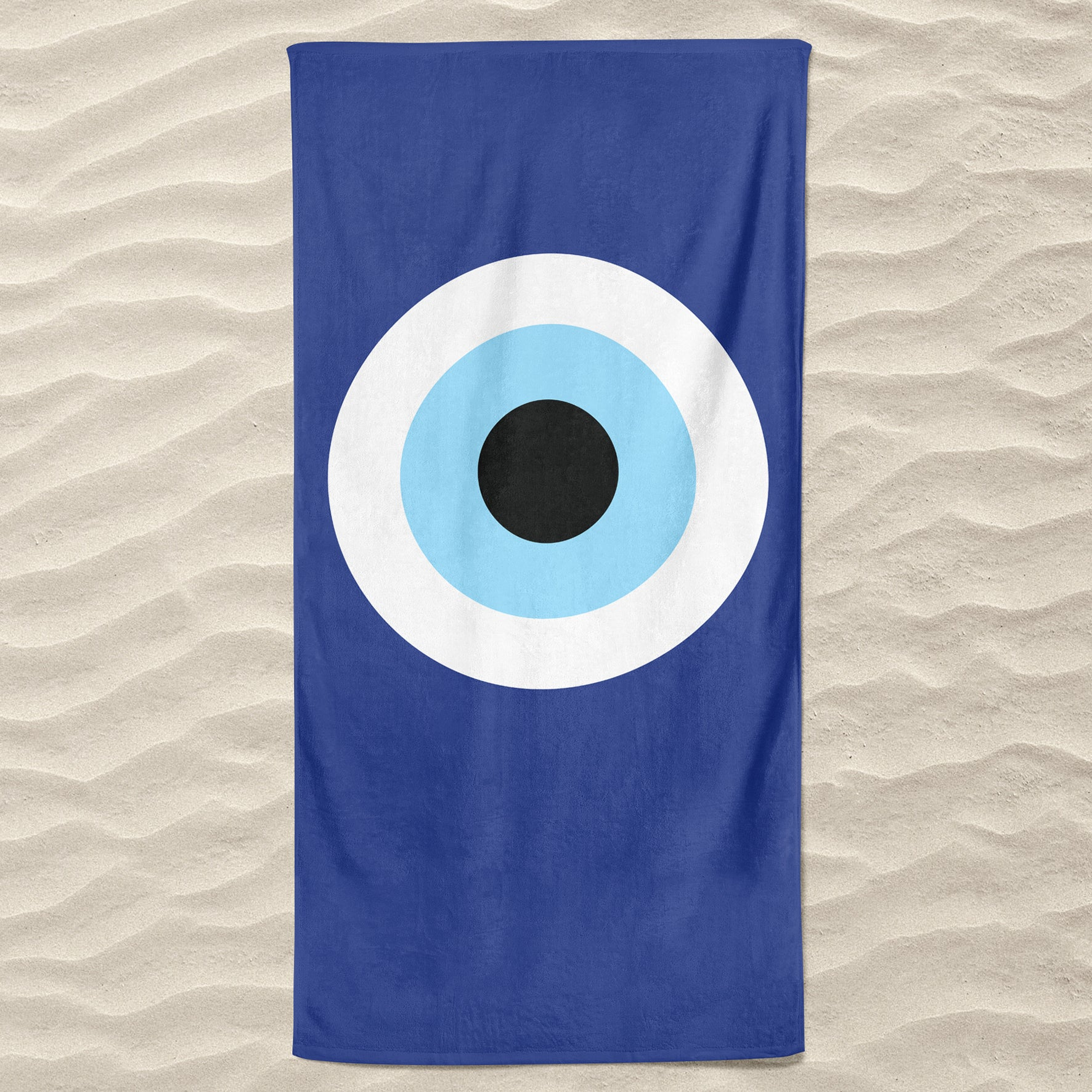 Blue Evil Eye Beach Towel