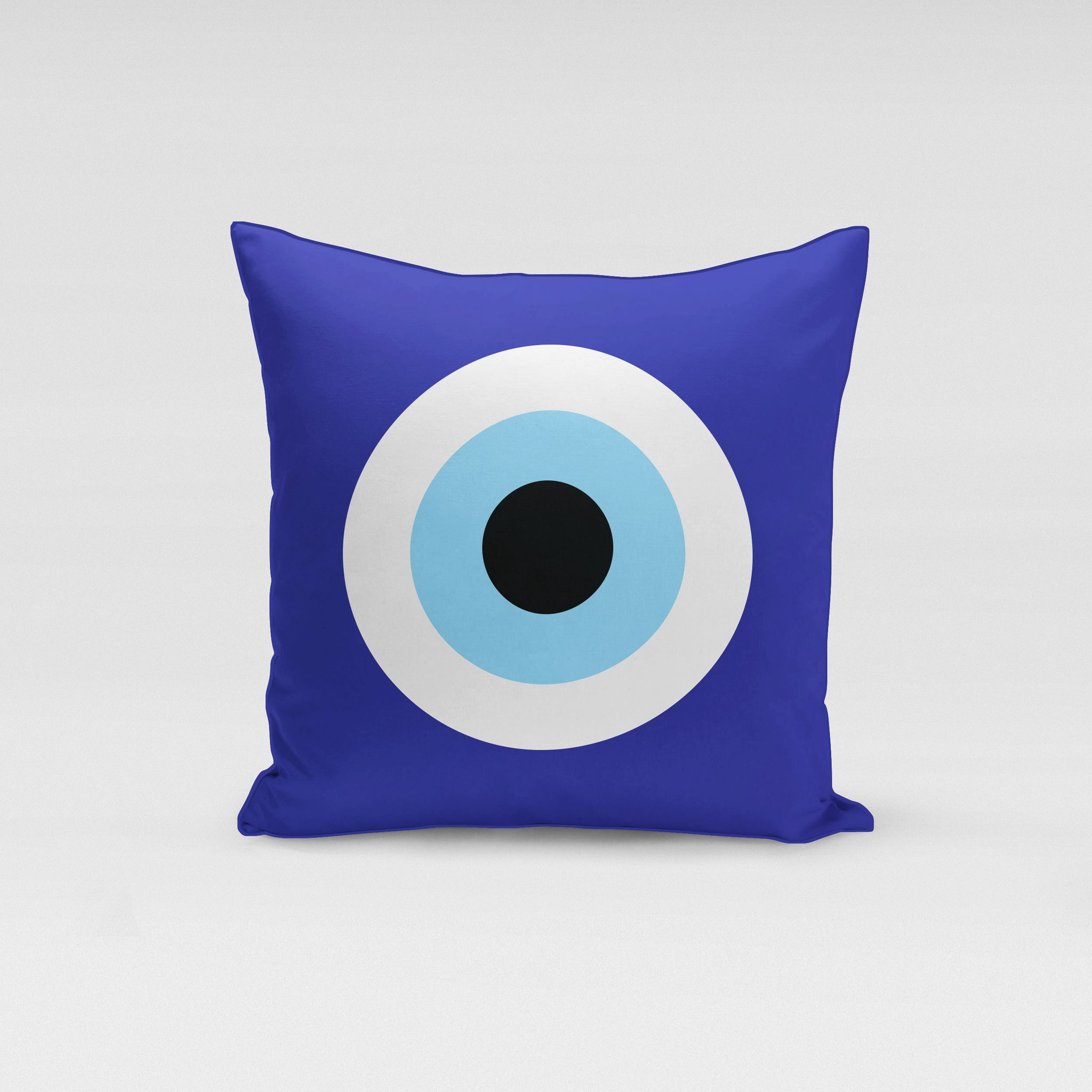 Blue Evil Eye Pillow