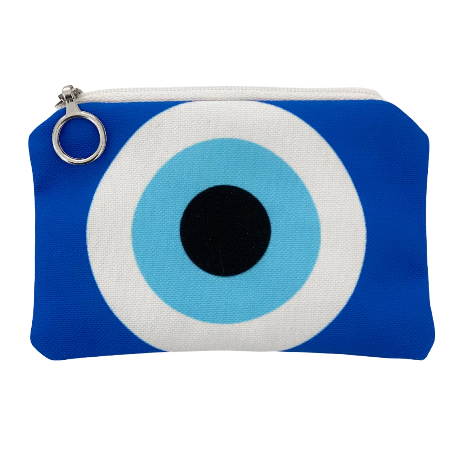 Bright Blue evil eye mini coin purse