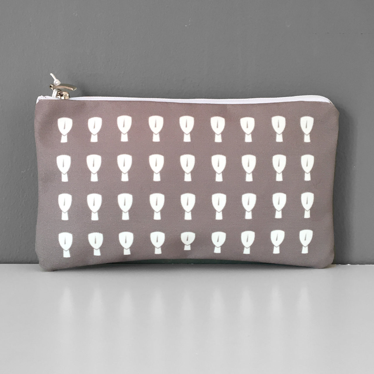 Cycladic pattern cosmetic bag