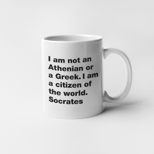 The Citizen of the world Socrates mug