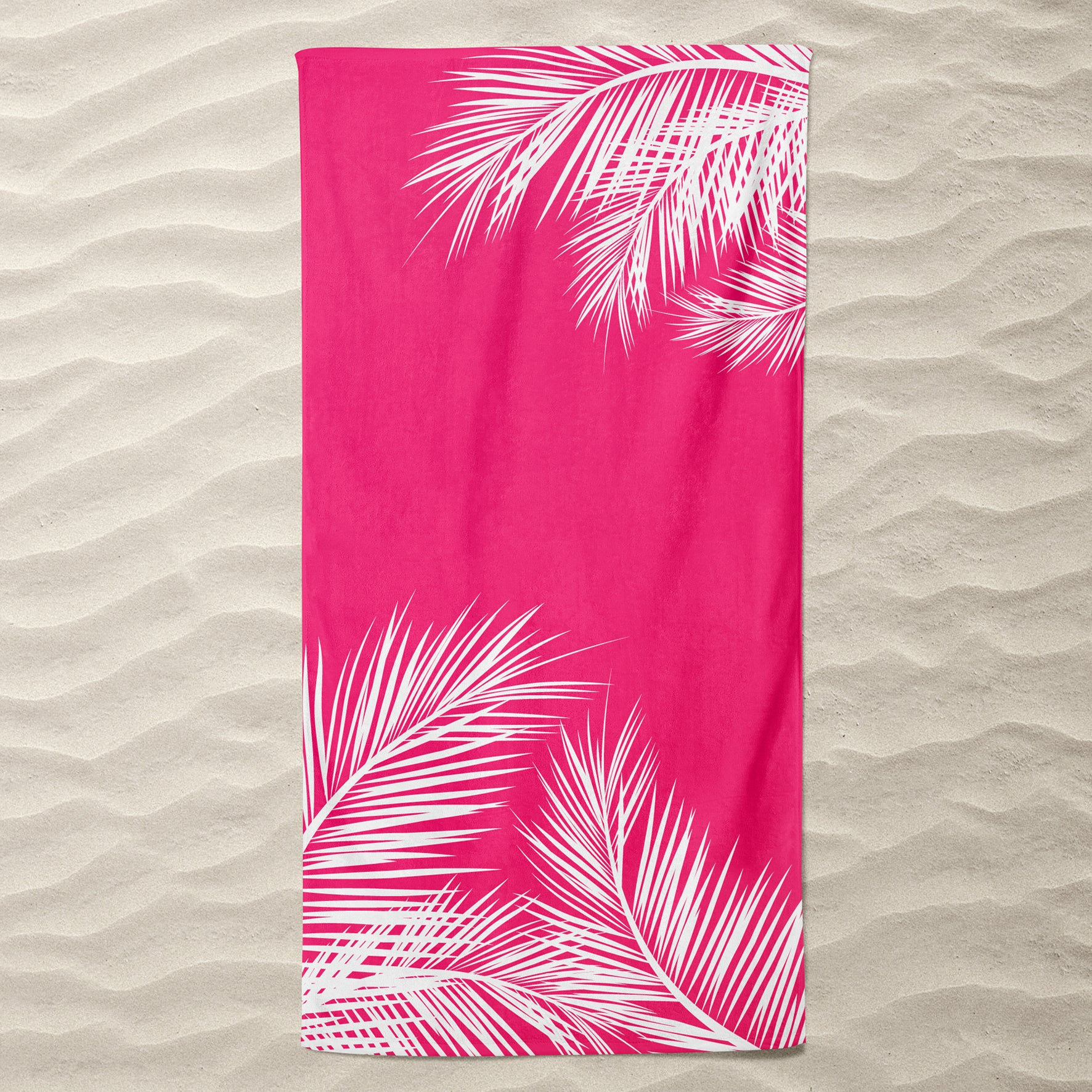 Coral Summer Beach Towel