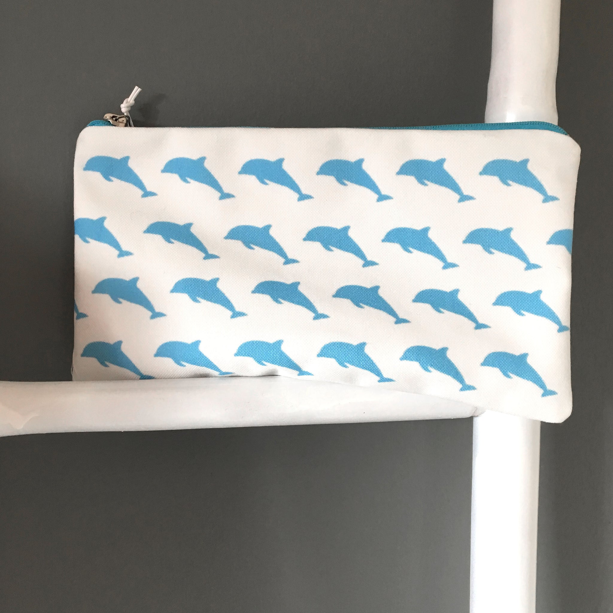 The Dolphins cosmetic bag