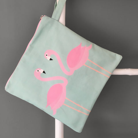 Flamingos Swim Bag