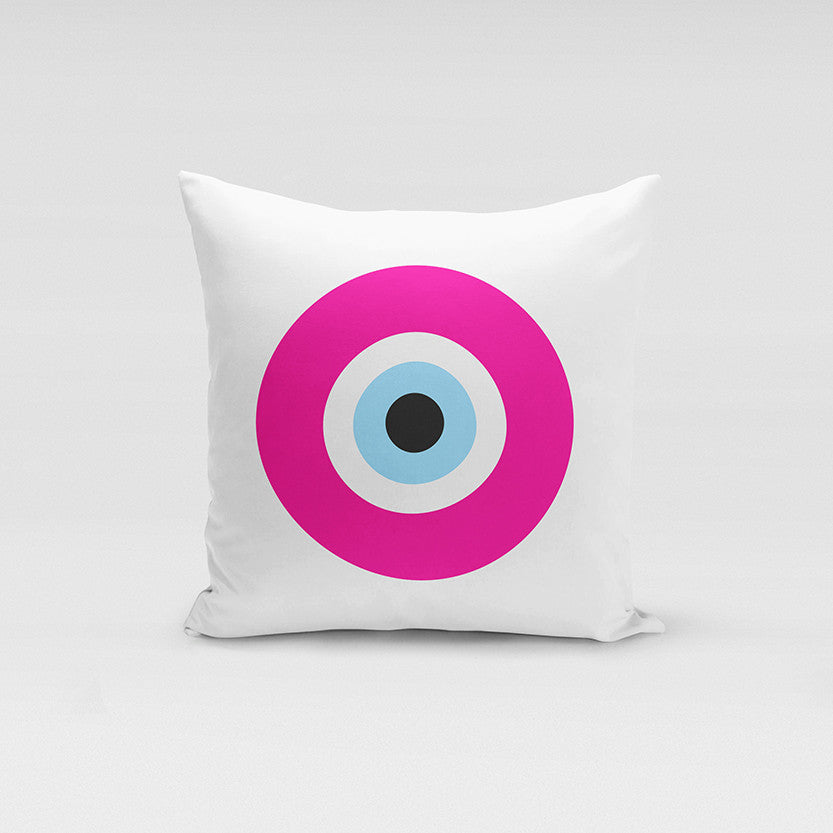 Pink Evil Eye Pillow