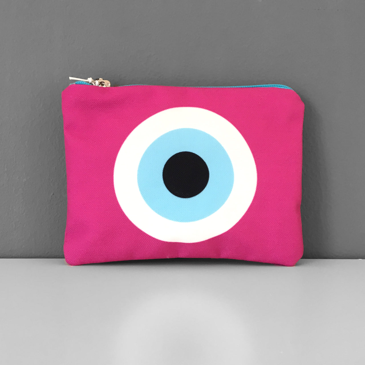 Fucshia Evil Eye coin purse