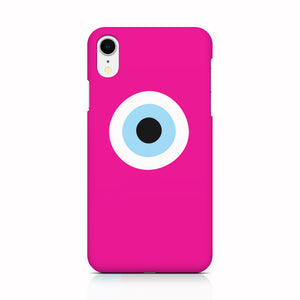 Fuchsia Evil Eye phone case for iPhone X/XS