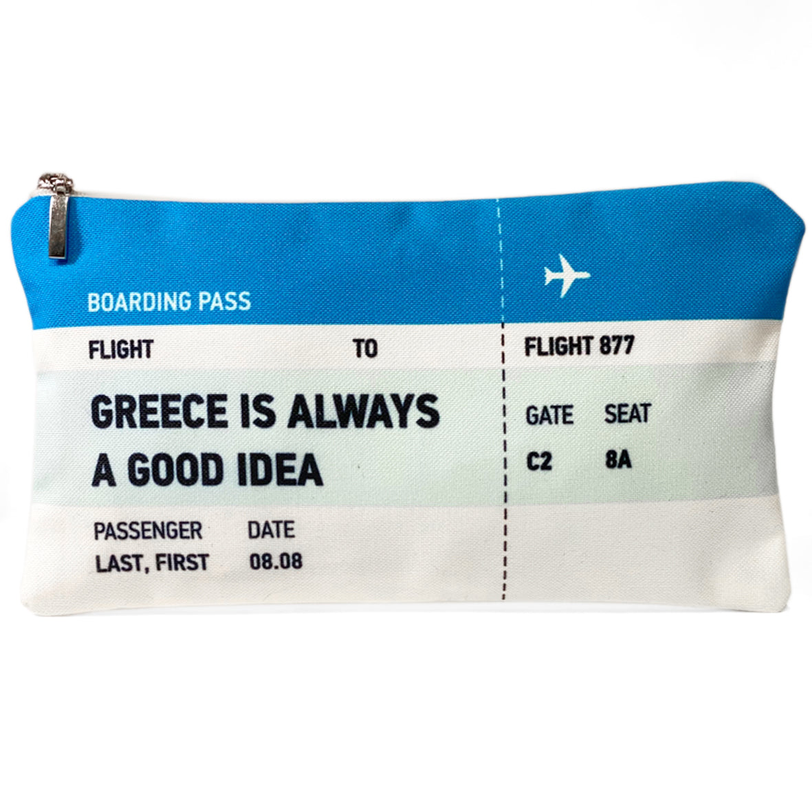 Greece is always a good idea ticket bag