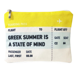 Greek summer is a state of mind ticket bag
