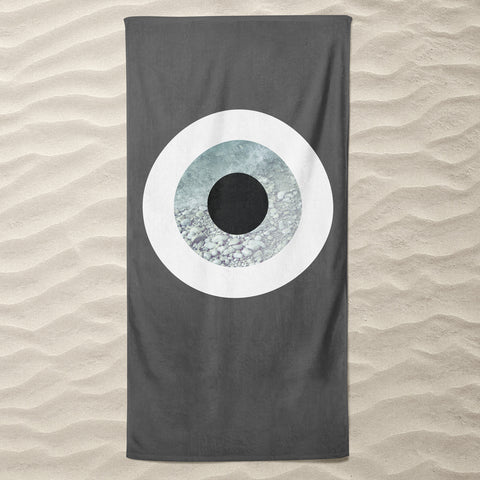 The Grey Rock  Beach Towel
