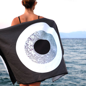 Grey Rock  Beach Towel