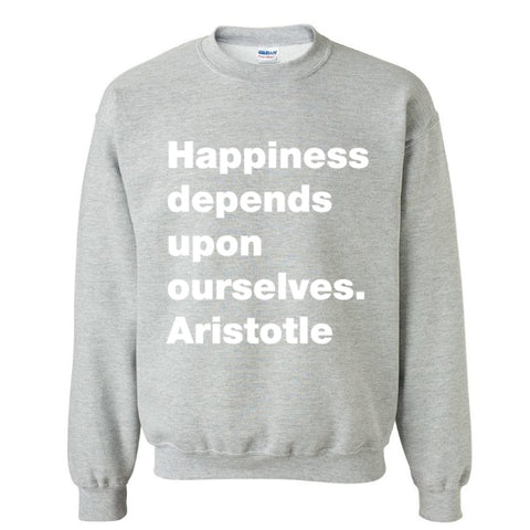Happiness grey sweatshirt