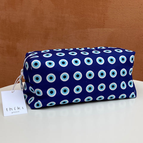 Blue evil eye box bag