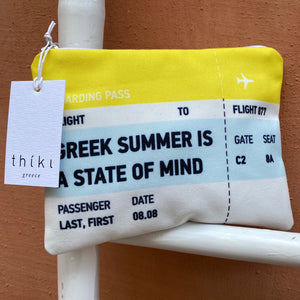 Boarding pass Greek Summer is a state of mind bag