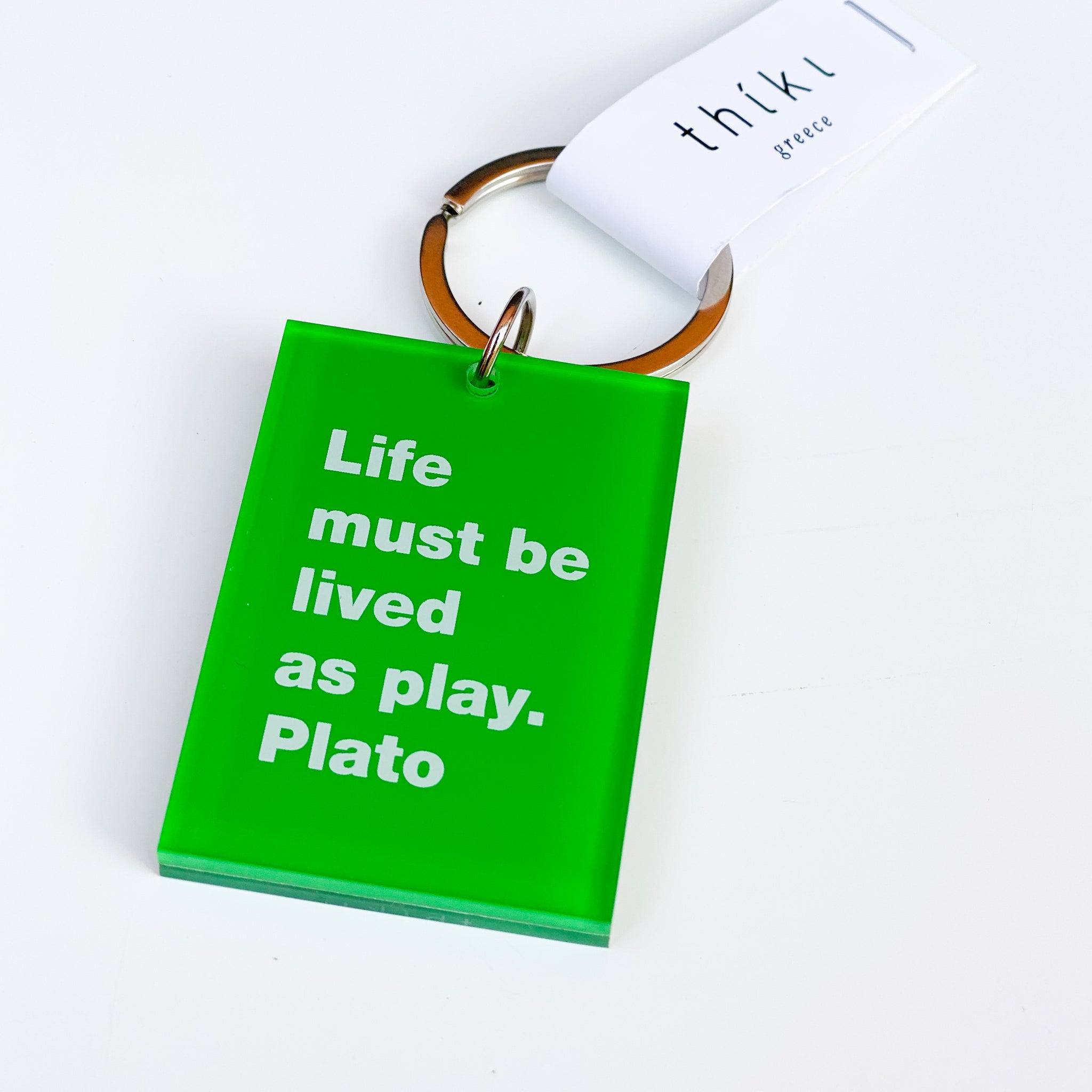 Life must be -Plato Key Ring