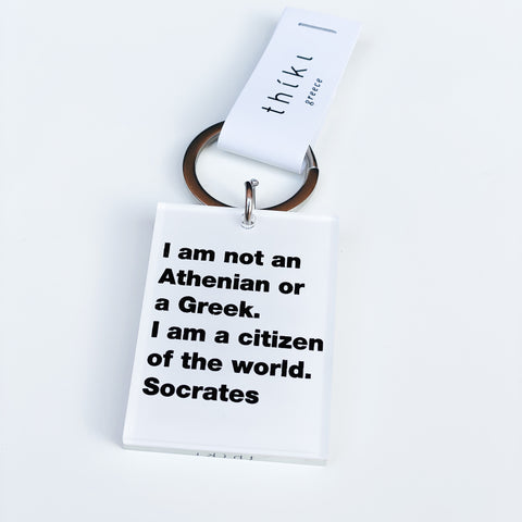 Citizen of the world. -Socrates key ring