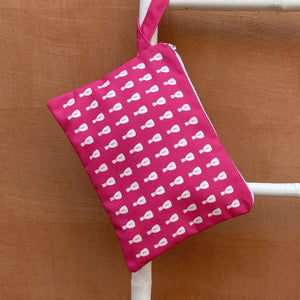 Cycladic Fuchsia Clutch