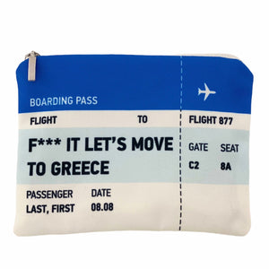 Let's move to Greece ticket bag