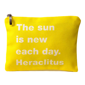 The sun is new each day. Heraclitus bag