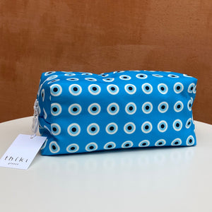 Turquoise evil eye box bag