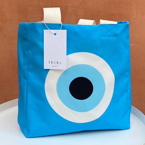 Turquoise Evil Eye lunch bag