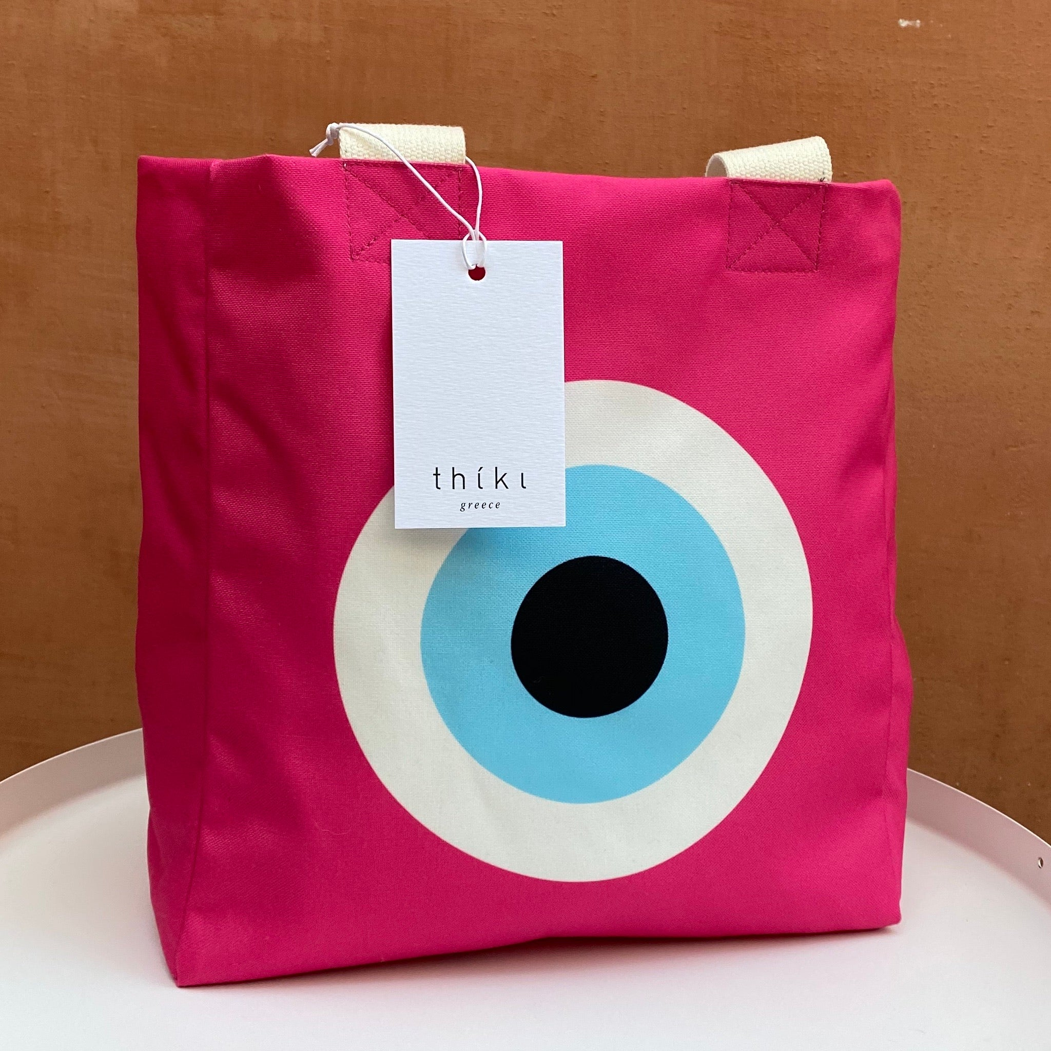 Fuchsia Evil Eye lunch bag
