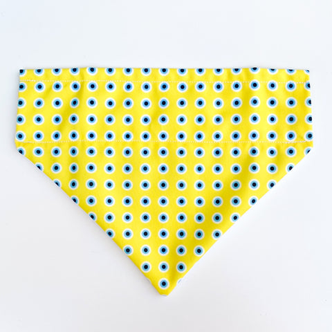 Yellow Evil Eye Bandana