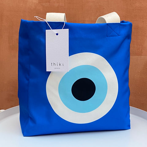 Bright Blue Evil Eye lunch bag
