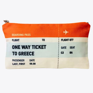 One way ticket to Greece bag