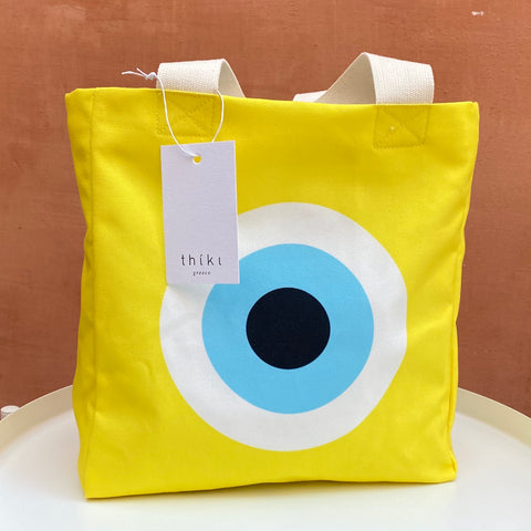 Yellow Evil Eye lunch bag