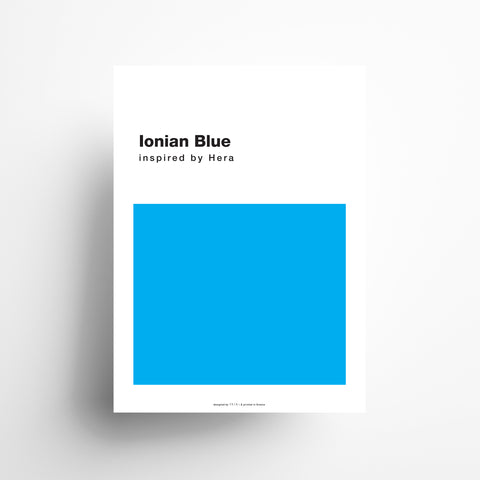 Ionian Blue Poster