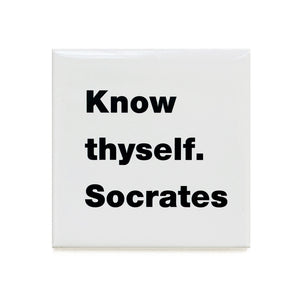 Know thyself. Socrates magnet