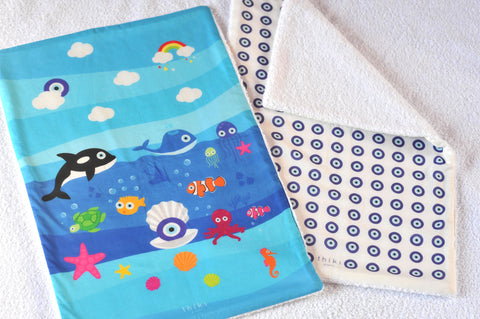 Sea World Eye Burp towel