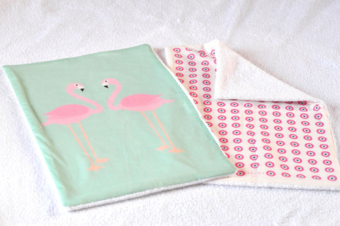 Flamingo and Pink Eye Burp towel